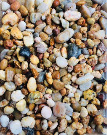 Natural Polished River Stones Pebbles LARGE - MIXED PEARL COLOURS